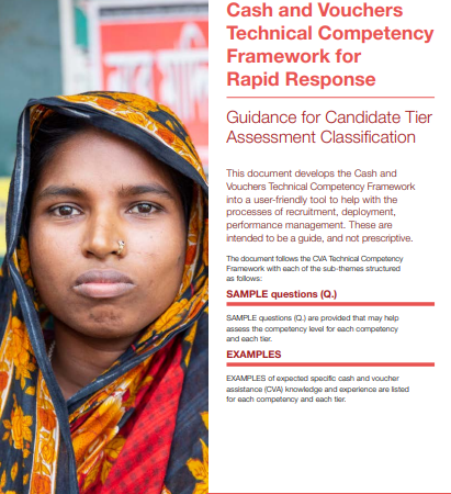 Cash and Vouchers Technical Competency Framework for Rapid Response Guidance for Candidate Tier Assessment Classification
